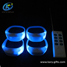 Wholesale Concert RGB Glowing Remote Controller LED bracelet Flashing Wristband