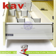 E660H Changeable Double Wall Drawer Slide Soft Close Drawer System