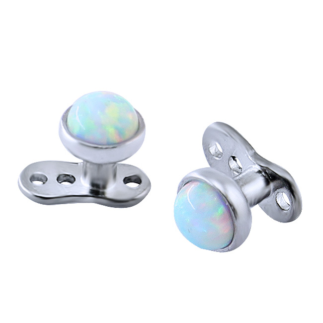 Titanium wholesale custom opal unique dermal anchor piercing