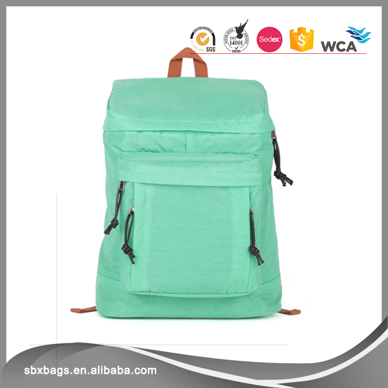 Mint Green Colour Casual Lightweight Laptop Bag Shoulder Bag School Backpack