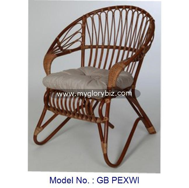 Antique Simple Indoor Rattan Armchair, Living Room Furniture Chair, Rattan Chair Furniture Antique Vintage Design