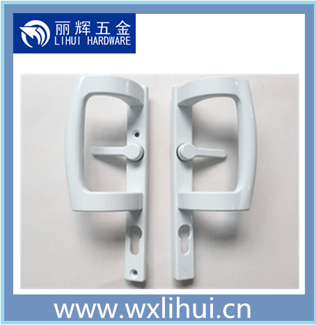 aluminum door hardware zinc alloy mortise upvc sliding door lock handle set ,Sliding glass door handle pull and push handle lock