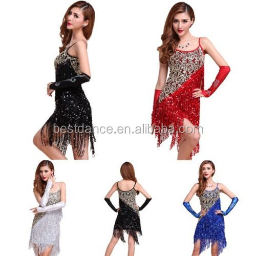 BestDance LATIN RHYTHM SALSA BALLROOM COMPETITION DANCE DRESS Plus Size Ballroom Dress- SIZE S, M, L