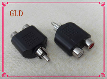 Golden or nickel plated rca plug to 2rca jack rca connector