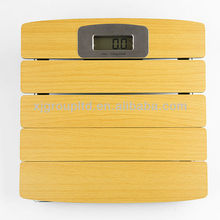 Wood digital bathroom scale