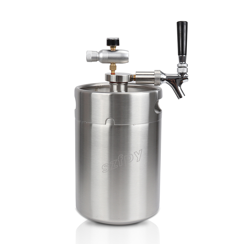 Homebrew 5l Mini Keg Beer Growler + 5l Mini Beer Spear With Tap ...