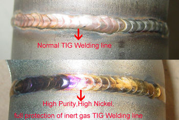 High purity,high nickel,full protection of inert gas TIG welding line for schedule 40 exhaust pipe
