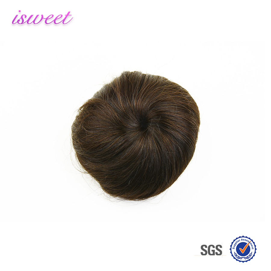 wholesale cheap chignon human hair buns dark brown #2 30g/pc