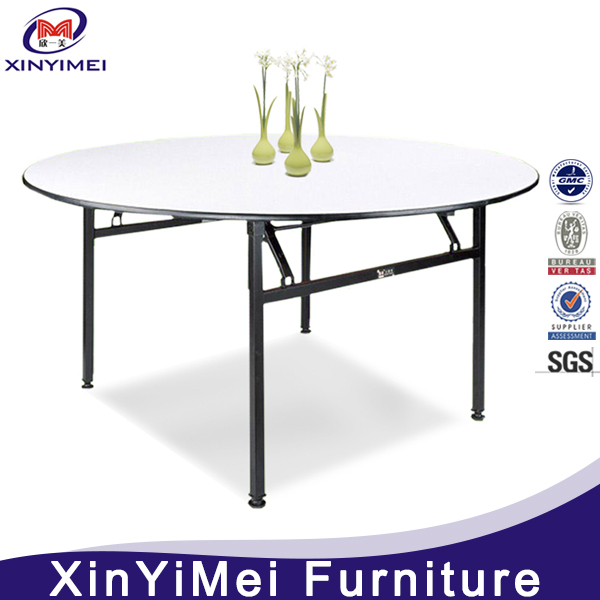 Popular wood round folding dining table