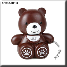 unique unglazed DIY potterys bear money safe box