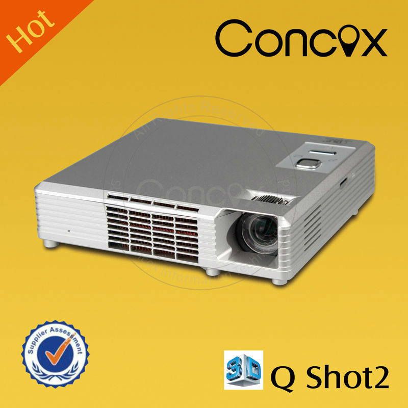 Conocx Q shot2 High Performance 1000 Lumens Mini Pico Projector with 3D glasses