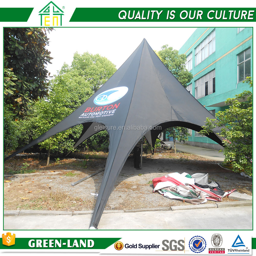 Beach Sun Shade Removable Advertising Promotional Display Star Shaped Tent