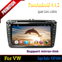 "ROM 16GB Quad-core Android 4.4 8"" touch screen car dvd for VW Caddy 2006 2007 2008 2009 2010 2011 2012"