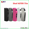 2016 best e-cig mod Eleaf ASTER TC 75w 18650 box mod kit with factroy price