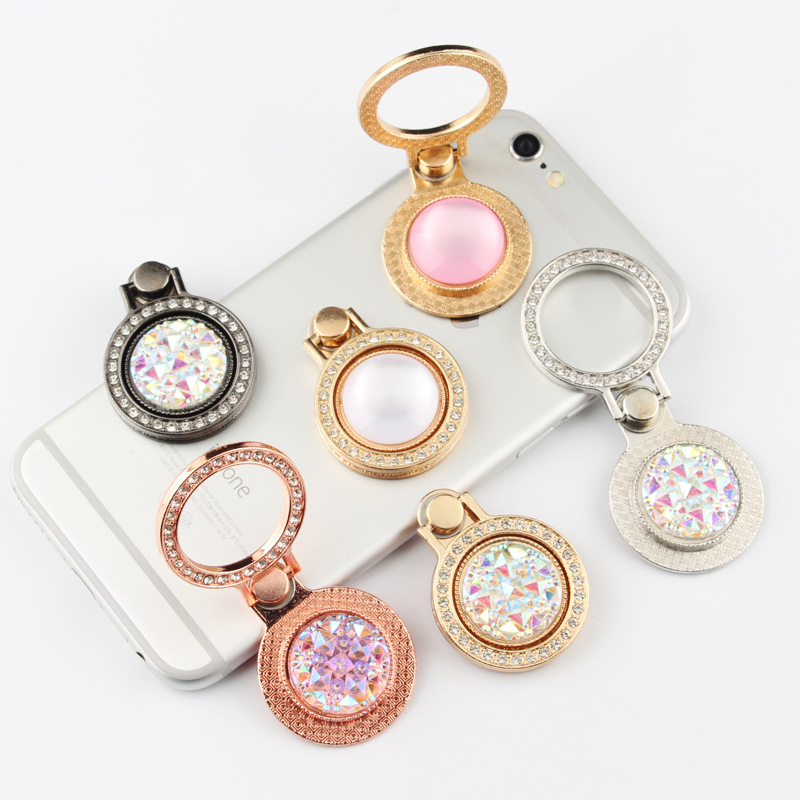 China manufacturer custom metal murano cute glass ring holder for mobile phone, wholesale mobile phone holder
