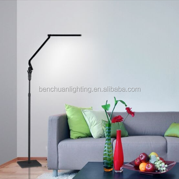 Home decoration color chaning office modern features indoor multifunction floor lamp with 4 color temperature and 5 step dimming