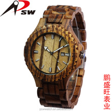 Eco-friendly natural wood color wooden watch 2016 bamboo