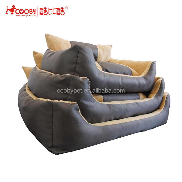 Low moq cheap plush soft outside dog beds