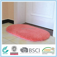 comfortable polyester anti slip thin bath mat