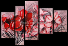 mordern abstract art painting wall art/ Home decoration Handmade Flower Oil Painting