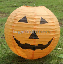 diy party decoration round paper halloween pumpkin lantern