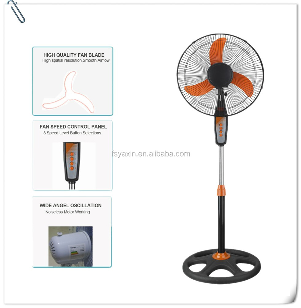 Plastic Material and Pedestal Installation parts electric stand fan