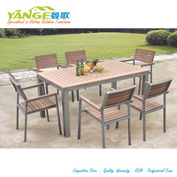 outdoor patio modern cheap polywood aluminum frame furniture