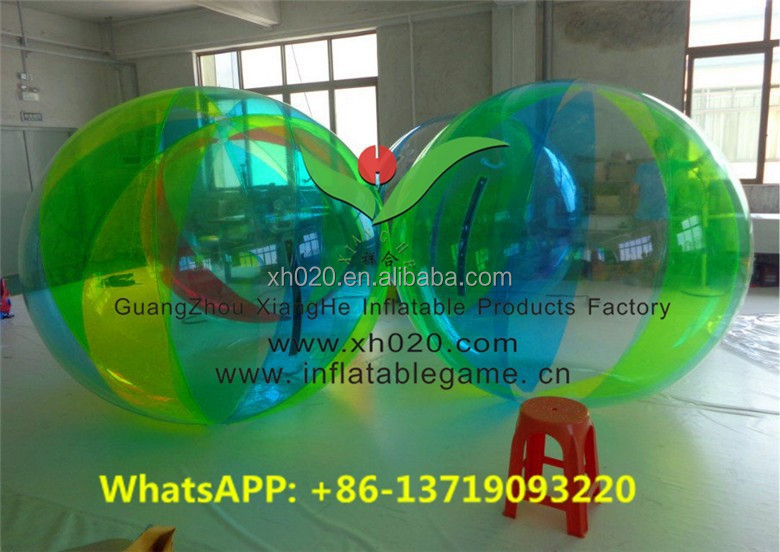 Commercial grade inflatable floating colorful water running ball