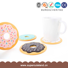 Eco-friendly ABS+Silicon donut shape tea cup coaster