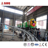 SANQGROUP Factory Price Kids Outdoor Playground Electric Car For Children Sliding Worm Ride