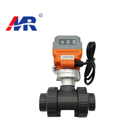 pvc plastic flow control electric plastic ball valve