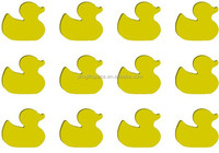 2016 wood Laser Cutout 12 pc rubber duck shape made in China