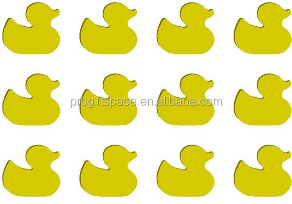 2017 wood Laser Cutout 12 pc rubber duck shape made in China
