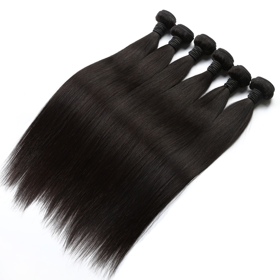 Alibaba Mink Brazilian Virgin Hair Straight With 360 Frontal Closure 8A Grade Virgin Unprocessed