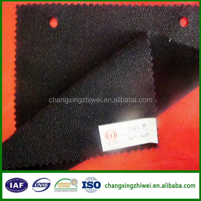 50d,75d, spandex adhesive double dot woven interlining hot products in 2015
