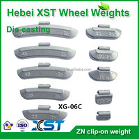 Automotive clip on wheel weights zn 5-60g