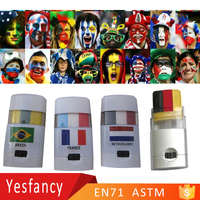 discount world cup football fans face painting set sport events face paints mexico flag face paint