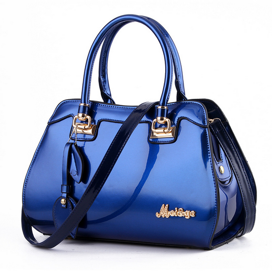 New Design Stylish Women Famous Designer Brand Tote Bags High Grade Luxury Elegant Women Patent Leather Handbags