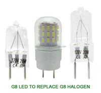 G8 LED 3W Light Bulb Lamp Spotlight to Replace 20W G8 Halogen Bulb 120V 240V