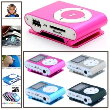 Wholsesale Metal Mini Portable Metal Clip MP3 Player LCD Screen With FM Radio