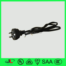SAA flat wire power cord cable, Australia 2 pin ac power cord plug, SAA power cable for construction