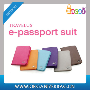 Encai New Design Travel Passport Cover Organizer/Colourful Passport Bags/Airplane Logo Tickets&Cards Holder