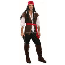Wholesale high quality ship captain costume sexy halloween party pirate costume for adult men AGM2101
