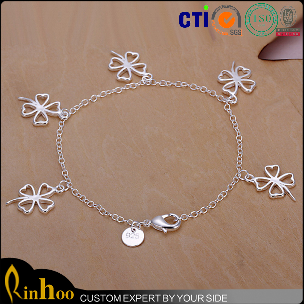 the best gift good luck four leaf clover jewelry bracelet to express your bless for others