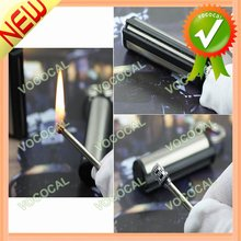 2PCS Cylinder Style Kerosene Matchstick Metal Lighter With Keychain