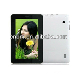 7 inch A13 chipset single core tablet 2G 512M/4G