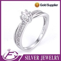 Classic design aaa cz stone 925 sterling silver moroccan wedding rings