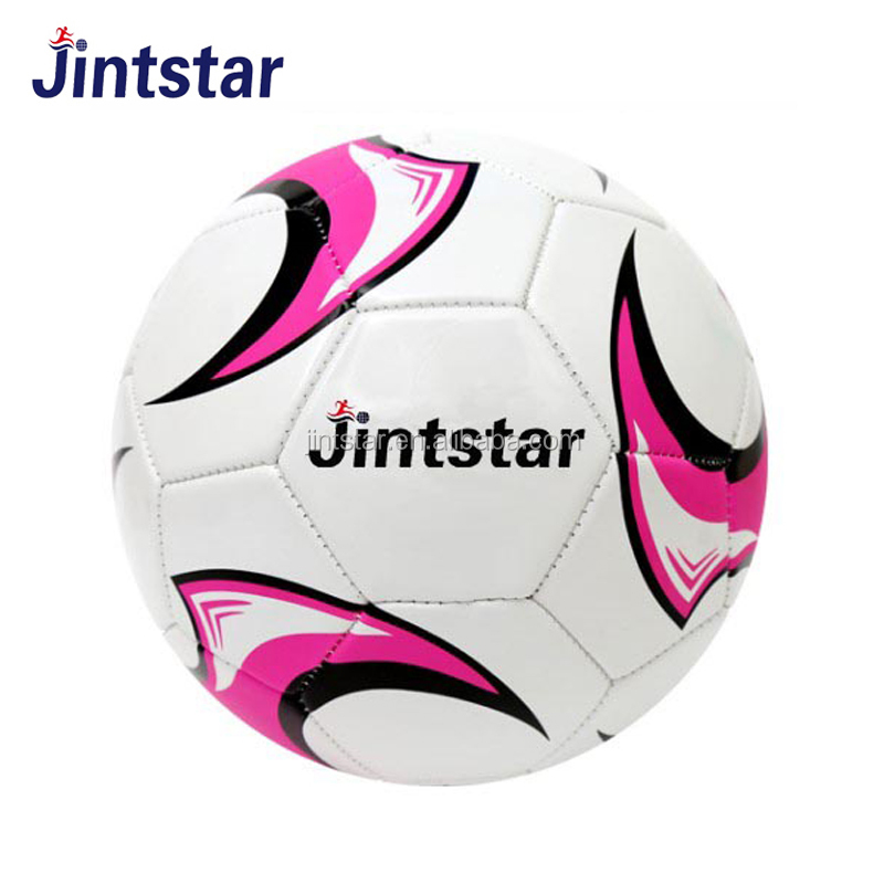 Wholesale pink size 5 football soccer ball for outdoor team training