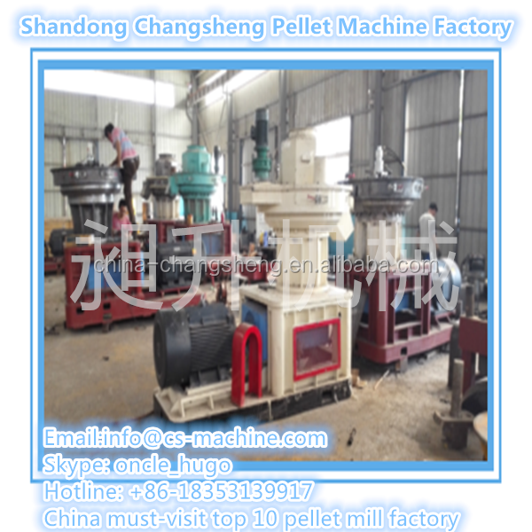 CSPM Chinese Manufacturer Supply Ring Die Wood Pellet Machine with auto central Lubrication System