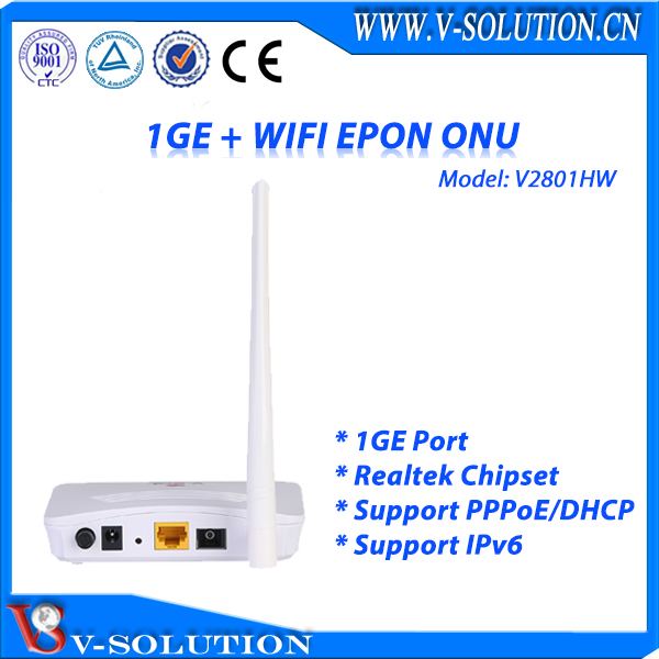 Low price gepon onu EPON ONU 1GE+wifi V2801HW for sale